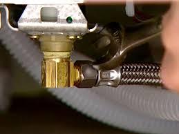 attach dishwasher supply line