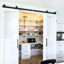 barn door kitchen building a pantry ...