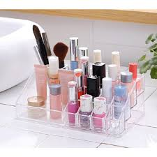 acrylic cosmetic makeup storage and organizer