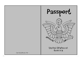 Free Passport Template For Kids Passport Coloring Page Printable Template Kids With Plans 100 28