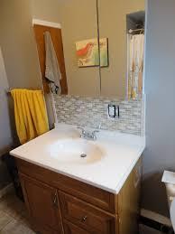 Bathroom Ideas  Interior Bathroom Guest Bathroom - Tile backsplash in bathroom