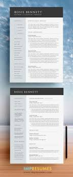 Innovative Resume Templates Best Resume Template 48 Pages CV Template Professional Resume Design