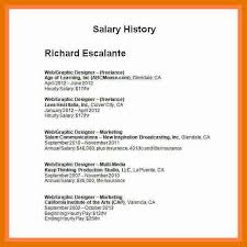 Salary History In Resumes 9 10 Resume With Salary History Sample Juliasrestaurantnj Com