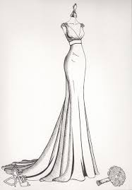 Bride Dress Drawing At Paintingvalleycom Explore Collection Of