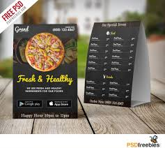 restaurant food menu table tent template psd psd bies com restaurant food menu table tent template psd