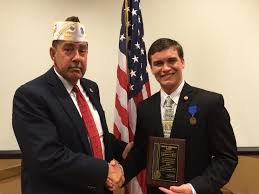 greenwood student to represent arkansas in voice of democracy left to right richard mckinney commander vfw post 6527 christian griffith