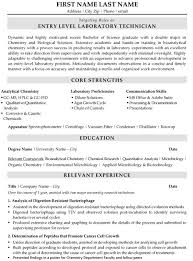 Lab Technician Resume Unique Technician Resume Sample Template