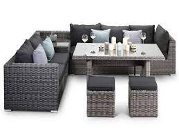 romantic rattan garden furniture dining