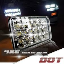 Kenworth T800 Interior Lights Dot 4x6 Inch Sealed Beam Led Headlights Rectangular Replace H4651 H4652 H4656 H4666 H6545 For Kenworth T600 T800 W900 Peterbilt 357 379 378 Honda