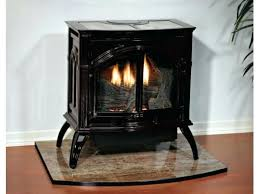 freestanding ventless gas fireplace empire heritage vent free cast iron stove compact free standing gas fireplace