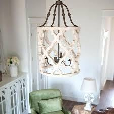 distressed white chandelier wood french shabby