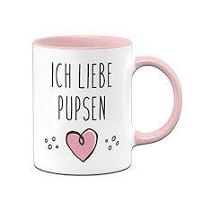Tassenbrennerei Tasse Mit Spruch Ich Liebe Pupsen Furzen Bürotasse