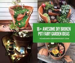 16 awesome diy broken pot fairy garden