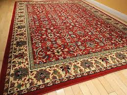 4 of 6 large traditional area rugs persian style carpet oriental rug 8x10 red rugs 5x8