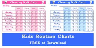 Teeth Cleaning Chart Free Teeth Cleaning Chart For Kids Teeth Brushing Chart