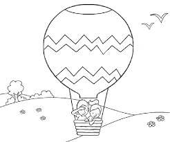 hot air balloon coloring page. Modren Page Hot Air Balloon Coloring Pages Online Throughout Page A