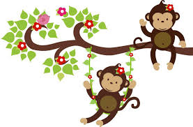 image of girl monkey wall decals