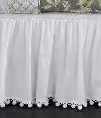 ball fringe gathered bed skirt 15 drop country curtains