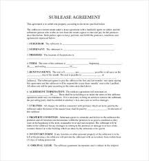 residential sublease agreement template. Sublease Agreement Template 15 Free Word PDF Document Download