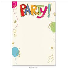 Blank Birthday Invitations Blank Birthday Invitations With Comely
