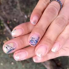 Tamarivernail 先日の たまリバ 青い糸が絡み合って出来た模様の