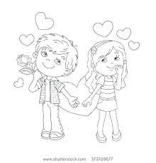 Outline Of A Boy And Girl Coloring Pages Boy And Girl Coloring Page
