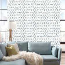 roommates open geometric repositionable and removable l and stick wallpaper