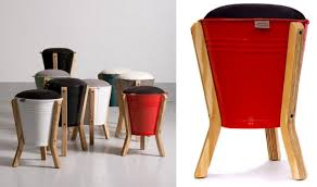 furniture made of recycled materials. Bucket Stool Furniture Made Of Recycled Materials