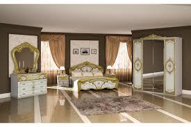Italienisches Barock Schlafzimmer Rouza In Weißgold 6 Teilig