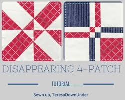 Two kinds of disappearing 4-patch blocks | Sewn Up & Two kinds of disappearing 4-patch blocks Adamdwight.com