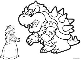 Bowser Pointing Bowser2queen Coloring Page Pages Coloring Book