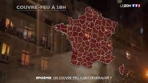 TF1 Le JT - Épidémie : couvre-feu à 18h généralisé ?
