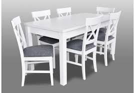new white dining set 140 180cm extending table chairs