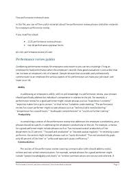 Performance Evaluation Examples Employee 1 Self Appraisal For ...