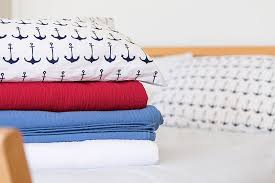 garnet hill mini print percale sheets in navy anchors nautical bedding for your beach