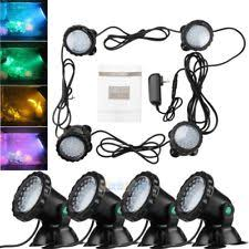underwater pond lights ebay Rbg Wiring Multiple Lights Pond lot 4 submersible 36 led rgb pond spot lights for underwater pool fountain ip68 Three-Way Wiring Multiple Lights