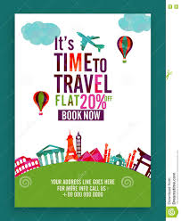 Template Banner Or Flyer For Tour And Travel Stock Illustration