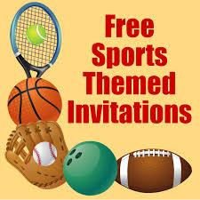 Football Party Invitations Templates Free Sports Ticket Invitation Template Free Free Printable Sports