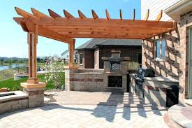 outdoor kitchen plans free design ideas kits island bar grill covered structures barbecue outdoo