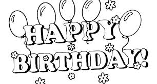 Birthday Balloons Coloring Pages Weekr