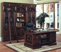 rustic spanish style furniture. wonderful library wall bookcase with desk in rustic spanish style furniture