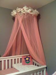 Tulle Canopy Diy Over Crib Canopy Were Hoping The Process Doesnt Take As Long