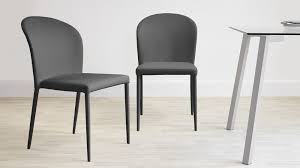 faux leather dining chairs beautiful on room intended contemporary modern fully upholstered chair 6