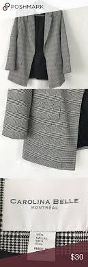 Carolina Bell Designs Carolina Bell Houndstooth Open Blazer Sz L Excellent