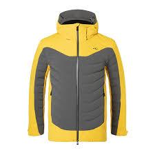 Ski Jacket Kjus Men Sight Line Jacket Steel Grey Solar