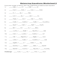worksheet more practice balancing equations activities reactions problems chemistry equati