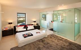 master bedroom with open bathroom. master bedroom with open bathroom a