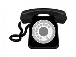レトロ黒電話のイラスト イラスト無料かわいいテンプレート