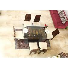 Glass top dining tables Seater Glass Glass Top Seater Dining Table Indiamart Glass Top Seater Dining Table At Rs 40000 set Glass Dining