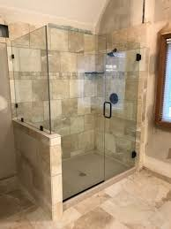 glass doors for bathrooms. Frameless Heavy Glass Door \u0026 Panel With 90 Degree Return Installed Channel And Clamps ORB Doors For Bathrooms